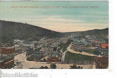 Heart of Hot Springs,Looking North from Eastman Hotel Tower - Cakcollectibles