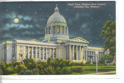 Night View-Missouri State Capitol-Jefferson City,Missouri - Cakcollectibles