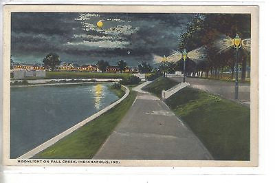 Moonlight on Fall Creek-Indianapolis,Indiana 1917 - Cakcollectibles