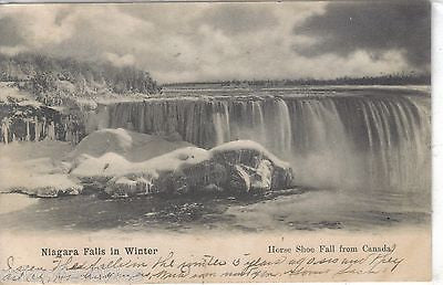 Niagara Falls in Winter-Horse Shoe Fall from Canada UDB - Cakcollectibles