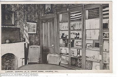 Library,General U.S. Grant Home-Galena,Illinois - Cakcollectibles