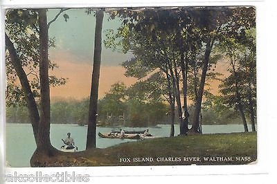 Fox Island,Charles River-Waltham,Massachusetts 1912 - Cakcollectibles