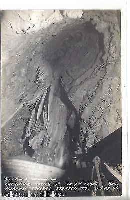 RPPC-Cathedral Tower,Merramec Caverns,3d to 4th Floor-Stanton,Mo. Highway 66 - Cakcollectibles - 1