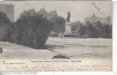 Statue of Daniel Webster-New York City 1908 - Cakcollectibles
