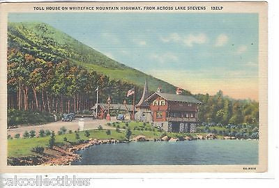 Toll House on Whiteface Highway from across Lake Stevens-New York - Cakcollectibles