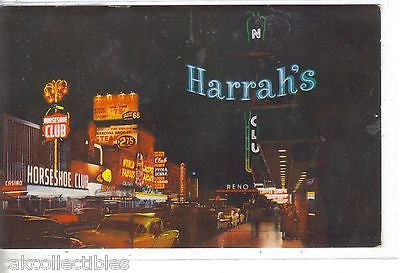 South Virginia Street at Night-Reno,Nevada - Cakcollectibles