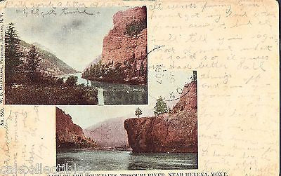 Gate of The Mountains,Missouri River near Helena,Montana 1907 - Cakcollectibles