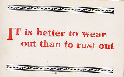 It Is Better To Wear Out Than To Rust Out Quote Postcard - Cakcollectibles
