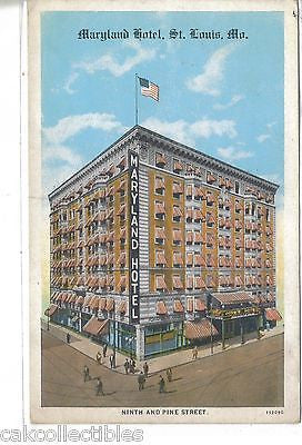 Maryland Hotel-St. Louis,Missouri - Cakcollectibles