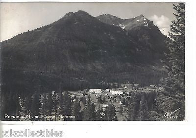 RPPC-Republic Mountain and Cooke,Montana - Cakcollectibles - 1
