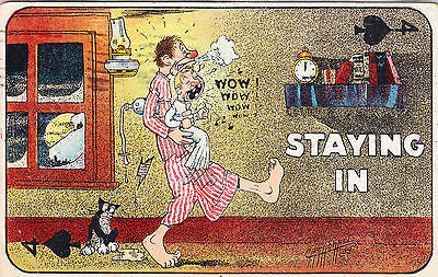 Staying In Comic Postcard - Cakcollectibles