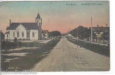 Erie Street-Rogers City,Michigan 1911 - Cakcollectibles - 1