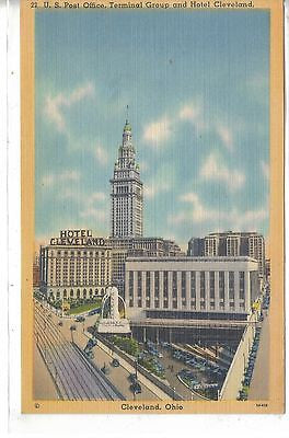 U.S. Post Office,Terminal Grouip and Hotel Cleveland-Cleveland,Ohio - Cakcollectibles