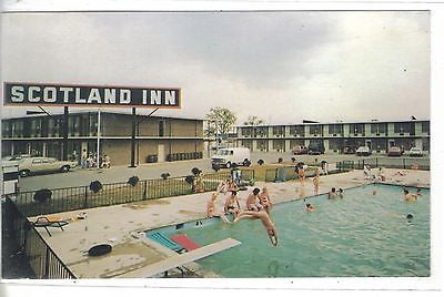 Swimming Pool,Scotland Inn-Georgetown,Kentucky Vintage Postcard Front