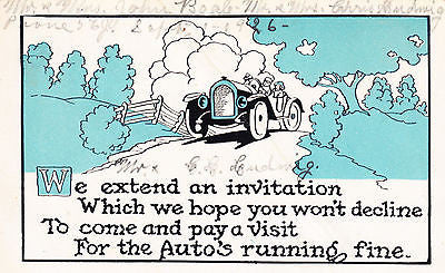 We Extend An Invitation Comic Postcard - Cakcollectibles