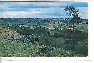 Scene in The Hills between Hysham and Custer,Montana on U.S. 10 & 12 1955 - Cakcollectibles