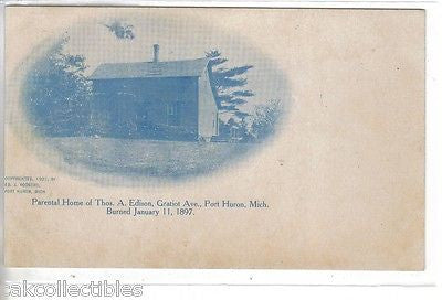 Parental Home of Thomas A. Edison-Port Huron,Michgan - Cakcollectibles - 1