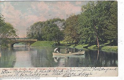 Willow Bridge,Roger William's Park-Providence,Rhode Island 1909 - Cakcollectibles