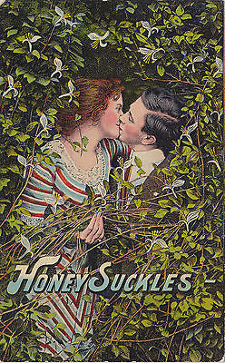 Honey Suckles Lovers Comic Postcard - Cakcollectibles