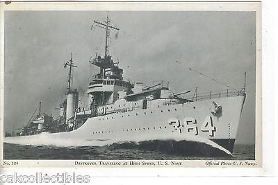 Destroyer Traveling at High Speed-U.S. Navy - Cakcollectibles