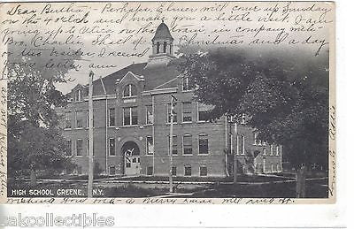 High School-Greene,New York 1906 - Cakcollectibles - 1