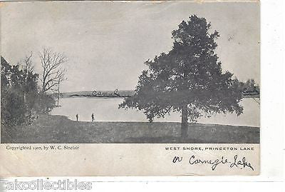 West Shore,Princton Lake (Carnegie Lake)-New Jersey UDB - Cakcollectibles