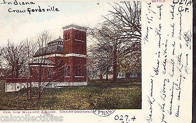 Gen. Lew Wallace Library-Crawfordsville,Indiana 1906 - Cakcollectibles