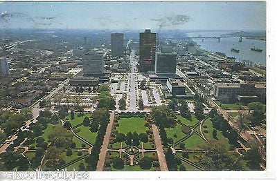 Baton Rouge,Louisiana-South View from the Capitol Building 1976 - Cakcollectibles