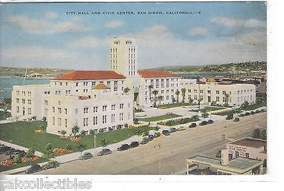 City Hall and Civic Center-San Diego,California 1946 - Cakcollectibles
