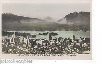 RPPC-Aerial View of City & Brockton Point-Vancouver,Canada - Cakcollectibles - 1