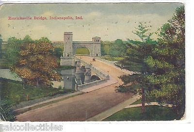 Emrichsville Bridge-Indianapolis,Indiana 1911 - Cakcollectibles
