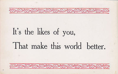 Its The Likes Of You Quote Postcard - Cakcollectibles
