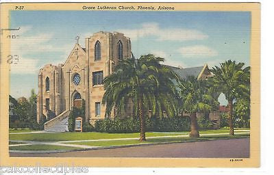 Grace Lutheran Church-Phoenix,Arizona 1951 - Cakcollectibles