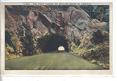 600 Foot Tunnel on Skyline Drive in Virginia - Cakcollectibles