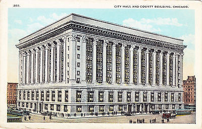 City Hall And County Building Chicago Postcard - Cakcollectibles