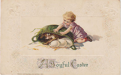 """A Joyful Easter"" John Winsch Postcard - Cakcollectibles - 1"
