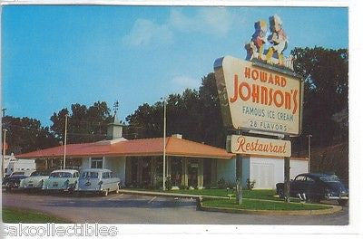 Howard Johnson's Restaurant-Charlotte,North Carolina (Old Cars) - Cakcollectibles - 1