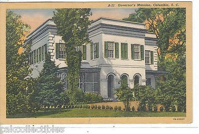 Governor's Mansion-Columbia,South Carolina - Cakcollectibles