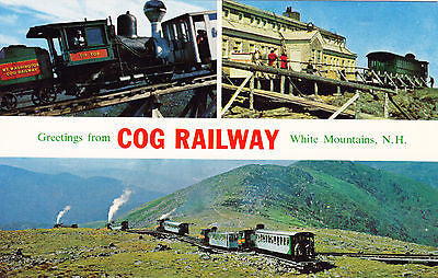 Greetings From Cog Railway White Mountains N. H. Postcard - Cakcollectibles