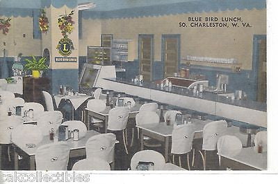 Interior-Blue Bird Lunch-South Charleston,West Virginia - Cakcollectibles - 1