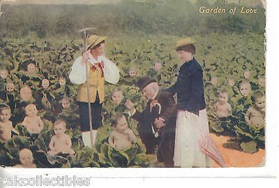 Early Post Card-Garden of Love-Children as Cabbage Heads 1908 - Cakcollectibles - 1
