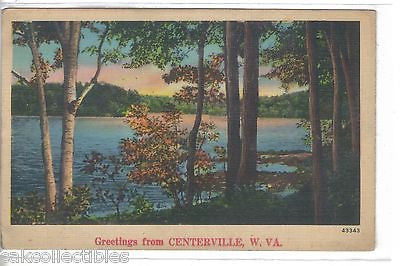 Greetings from Centerville,West Virginia (Linen Post Card) - Cakcollectibles