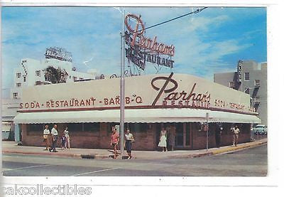Parham's Restaurant-Miami Beach,Florida - Cakcollectibles - 1