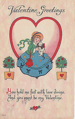 You Must Be My Valentine Postcard - Cakcollectibles - 1