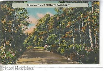 Greetings from Oriskany Falls,New York  1955 - Cakcollectibles