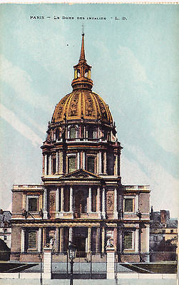 Le Dome Des Invalide Paris Postcard - Cakcollectibles