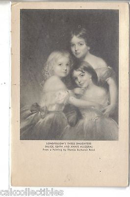 Longfellow's Three Daughters from a Painting by Thomas Buchanan Read UDB - Cakcollectibles