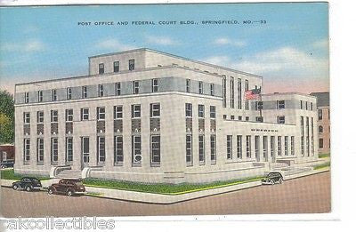 Post Office and Federal Court Building-Springfield,Missouri - Cakcollectibles