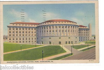 Educational Building,Capitol Park-Harrisburg,Pennsylvania 1940 - Cakcollectibles