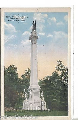 Iowa State Monument,Rossville Gap-Chattanooga,Tennessee - Cakcollectibles